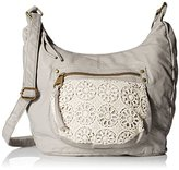 T-Shirt & Jeans Washed Hobo With Crochet Convertible Cross Body