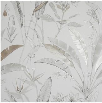 Arthouse Floral Jungle Metallic Wallpaper