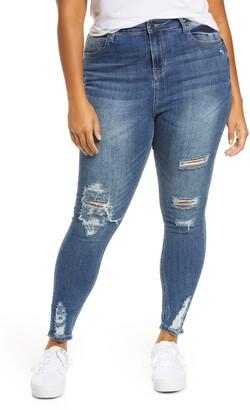 BP Women's High Waist Distressed Skinny Jeans