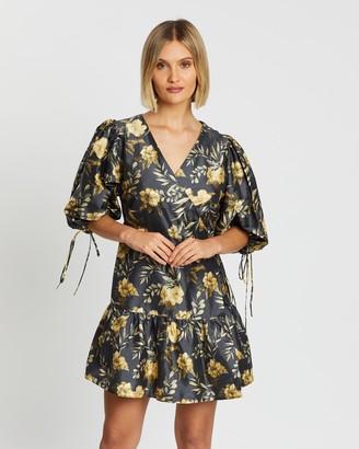 SIR the Label Carmen Wrap Mini Dress