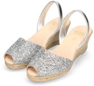riA Sandal - 38 / Silber Glitzer/ metallic / Leder