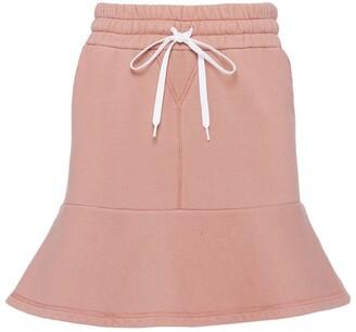 Miu Miu Garment-Dyed Fleece Mini Skirt
