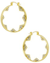 Noir Pyramid Hoop Earrings