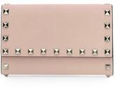 Valentino Garavani Mini Rockstud Leather Wallet-On-Chain
