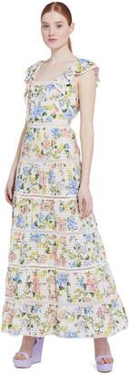 Alice + Olivia Ilana Floral Ruffle Maxi Dress