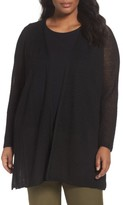 Eileen Fisher Plus Size Women's Hemp Blend Long Cardigan