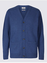 M&S Collection Pure Lambswool Cardigan