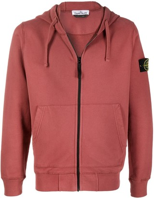 Stone Island Zip-Up Cotton Hoodie