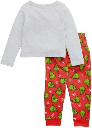 Unisex Kids The Grinch Christmas Family PJ Set - Grey
