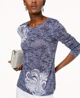INC International Concepts I.N.C. Burnout Sequined Top, Created for Macy's