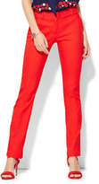 New York & Co. 7th Avenue Design Studio Pant - Runway - Slimmest Fit - Slim Leg - Campfire Red
