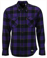 Levi's Men's Baltimore Ravens Plaid Barstow Western Shirt