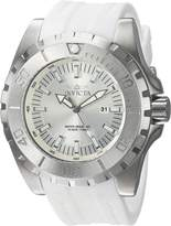 Invicta Men's 'Pro Diver' Quartz Stainless Steel and Polyurethane Casual Watch, Color:White (Model: 23739)