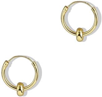Argentovivo Small Endless Hoop Earrings
