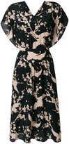 No.21 bird print tea dress