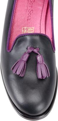 Its Got Soul Helena Navy/Purple Slipper Shoe