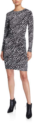 MICHAEL Michael Kors Long Sleeve Ruched Body-Con Dress
