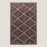 "6'3""x10' Vintage Multicolor Diamond Turkish Area Rug"