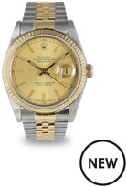 Rolex Rolex Preowned Datejust Champagne Dial Bimetal Mens Watch Ref 16233