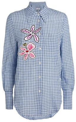 Mira Mikati Check Flower Patch Shirt