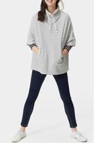 Joules Stripe Sweatshirt Poncho