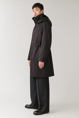 Cos Hooded Parka With Drawstring Waist