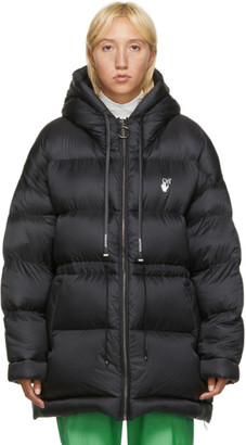 Off-White Black Belted Puffer Jacket