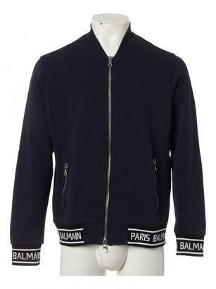 Balmain Navy Cotton Knitwear & Sweatshirts