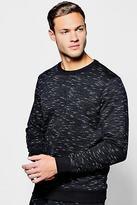 Boohoo Mens Space Dye Crew Neck Sweater
