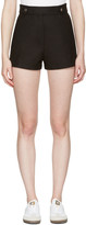 Courreges Black Button Belt Shorts