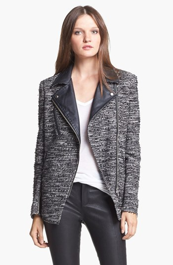 Mcginn Faux Leather Trim Jacket