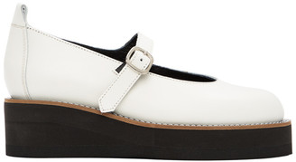 Y's Ys White Platform Mary Jane Oxfords