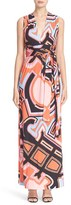 Emilio Pucci Women's Crossback Print Jersey Gown