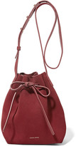Mansur Gavriel Mini Suede Bucket Bag - Claret
