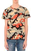 Valentino Camo-Print Short-Sleeve T-Shirt, Multi