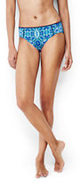 Lands' End Women's Mid Waist Bikini Bottoms-Deep Sea Medallion/Geo
