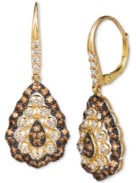 LeVian Le Vian Chocolate Diamond (7/8 ct. t.w.) & Nude Diamond (1/2 ct. t.w.) Drop Earrings in 14k Gold