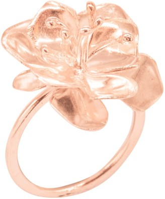 Lily Flo Jewellery Apple Blossom Ring In Solid Rose Gold