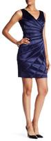 Chetta B V-Neck Sleeveless Ruched Dress