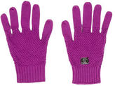 Burberry Purple Knit Gloves