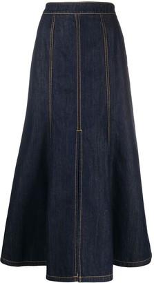 Kenzo Mermaid Denim Long Skirt