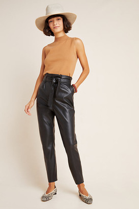 BB Dakota Annika Faux Leather Trousers By in Black Size 0