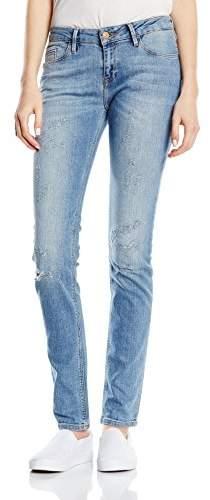 Cross Women's Skinny Jeans Blue Blau (Light Blue Destroyed 190)
