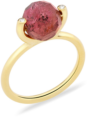 Yael Sonia Fancy Small 18K Gold, Tourmaline and Diamond Ring