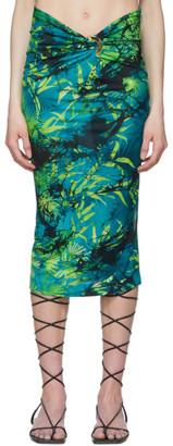 Versace Green Jungle Print Skirt