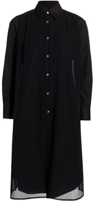 Comme des Garcons Collared Georgette Shirtdress