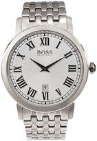 HUGO BOSS Men's 42mm Steel Bracelet Quartz -Tone Dial Analog Watch 1513143
