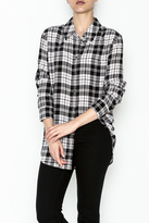 Equipment French Nude Plaid Top