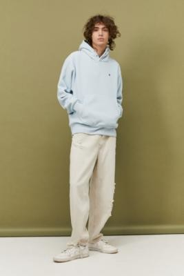 Champion UO Exclusive Light Blue Polar Fleece Hoodie - Blue S at Urban Outfitters