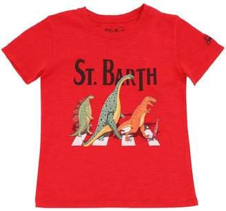 MC2 Saint Barth DINO PRINT COTTON JERSEY T-SHIRT